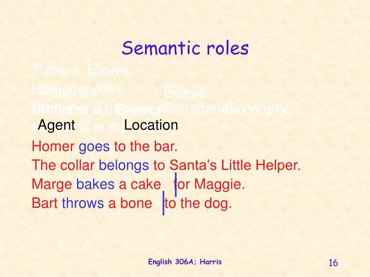 Semantic roles