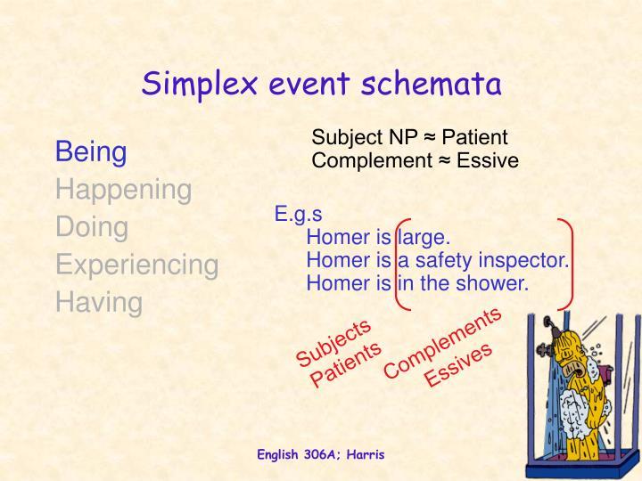 Simplex event schemata