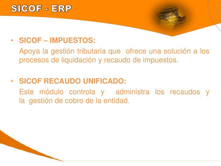 SICOF - ERP