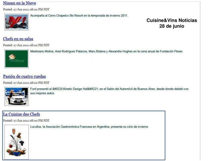 Cuisine&Vins Noticias