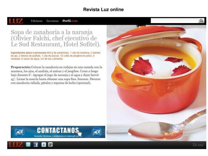 Revista Luz online