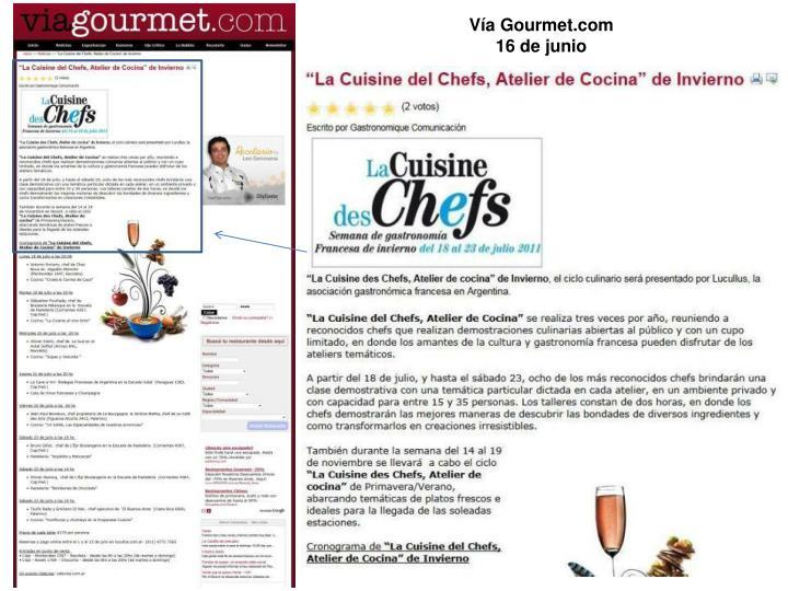 Vía Gourmet.com