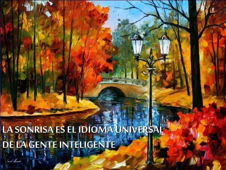 LA SONRISA ES EL IDIOMA UNIVERSAL