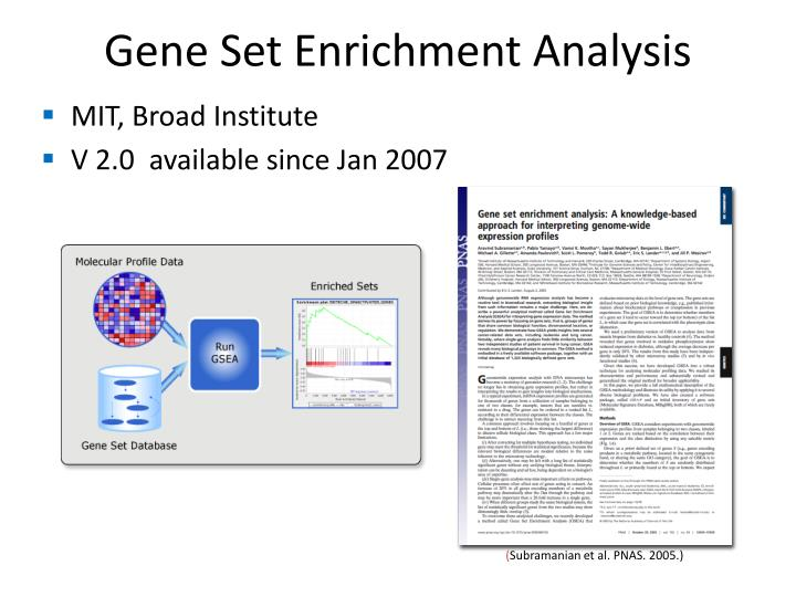 Gene Set Enrichment Analysis