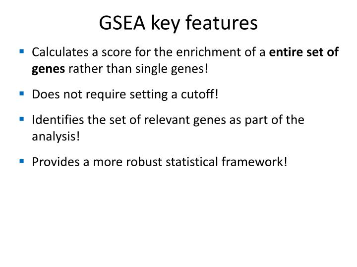 GSEA key features