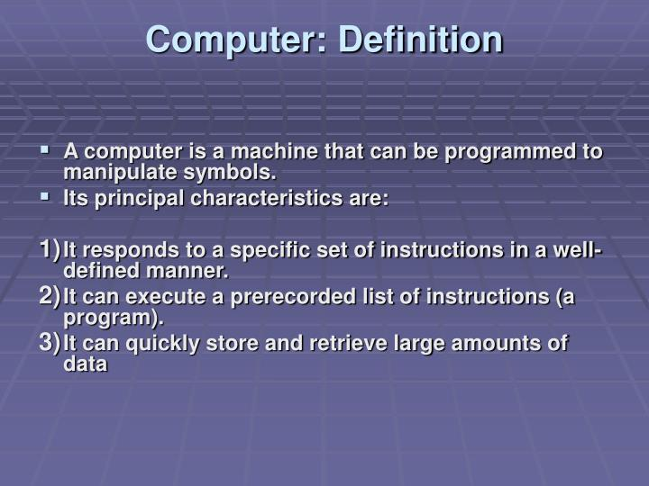 Computer definition