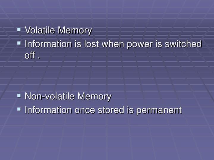Volatile Memory