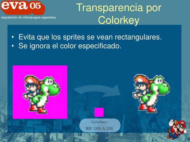 Transparencia por Colorkey
