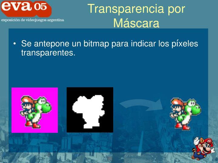 Transparencia por Máscara