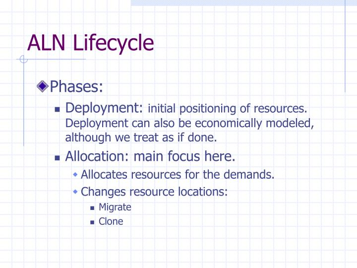 ALN Lifecycle