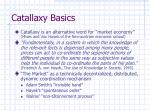 catallaxy basics