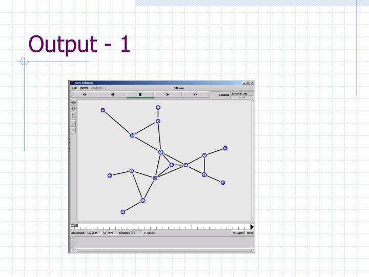 Output - 1