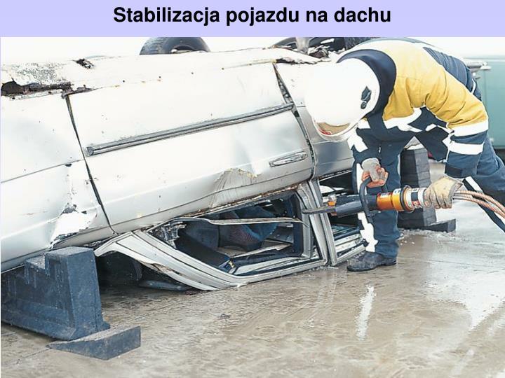 Stabilizacja pojazdu na dachu