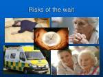 risks of the wait
