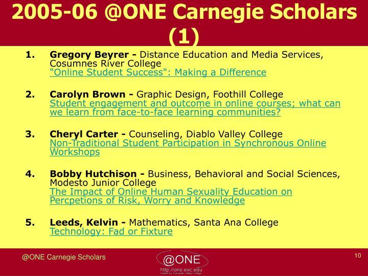 2005-06 @ONE Carnegie Scholars (1)