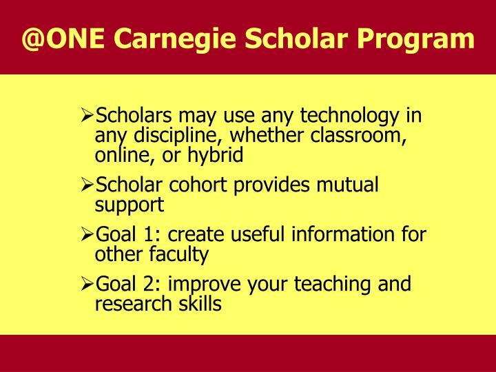 @ONE Carnegie Scholar Program