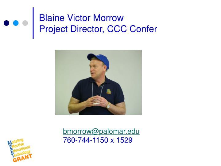 Blaine Victor Morrow