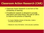 classroom action research car