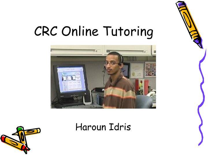 CRC Online Tutoring