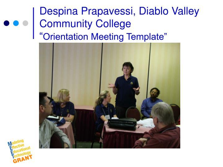 Despina Prapavessi, Diablo Valley Community College