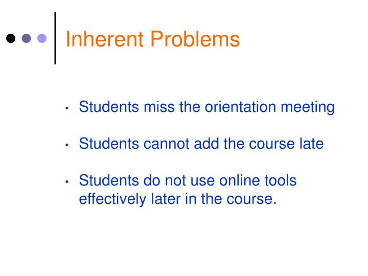 Inherent Problems