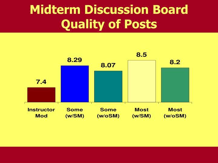 Midterm Discussion Board