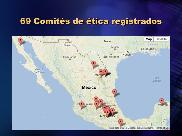 69 Comités de ética registrados
