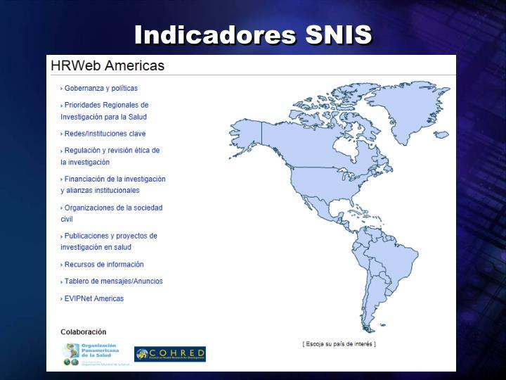 Indicadores SNIS