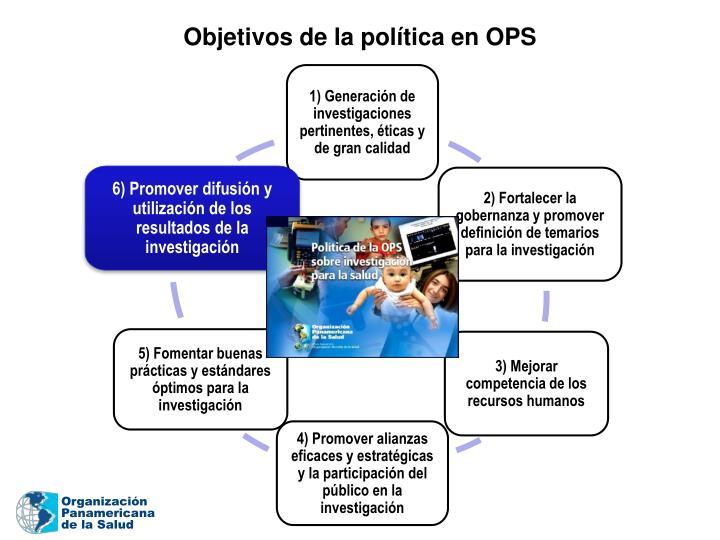 Objetivos de la política en OPS