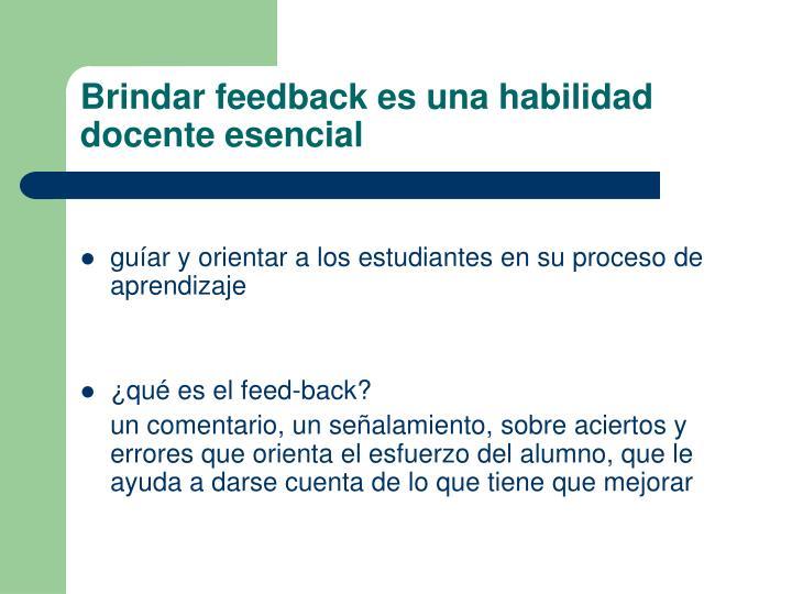 Brindar feedback es una habilidad docente esencial