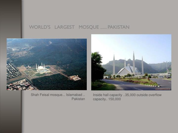 Shah Feisal mosque... Islamabad ..