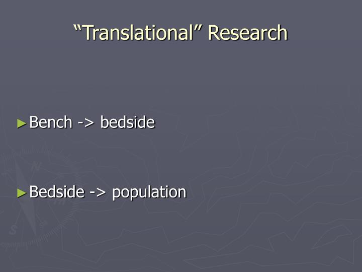 """Translational"" Research"