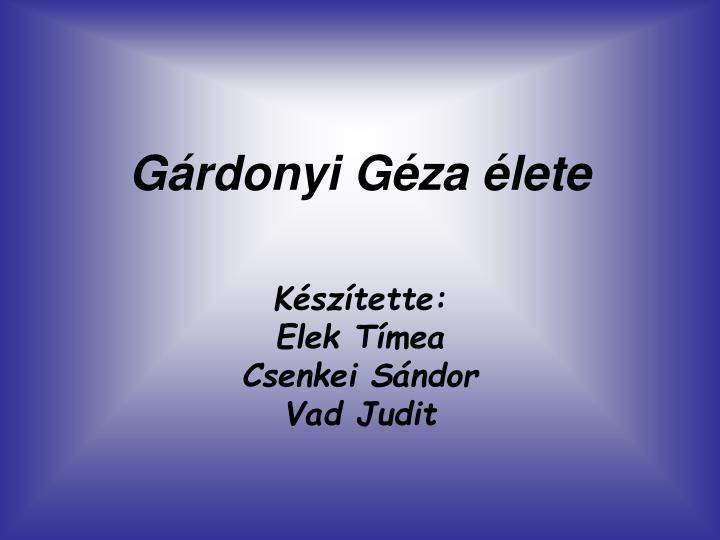 Gárdonyi Géza élete