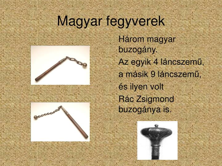 Magyar fegyverek