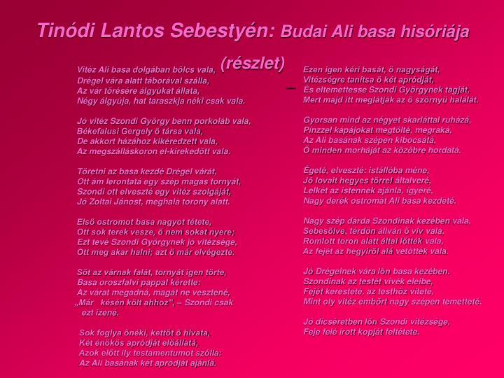 Tinódi Lantos Sebestyén: