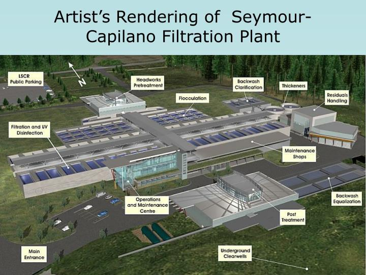 Artist's Rendering of  Seymour-Capilano Filtration Plant