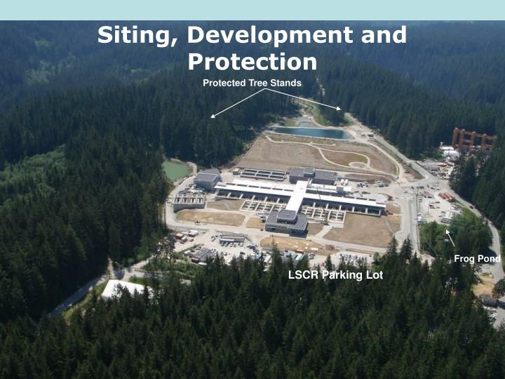 Siting, Development and Protection