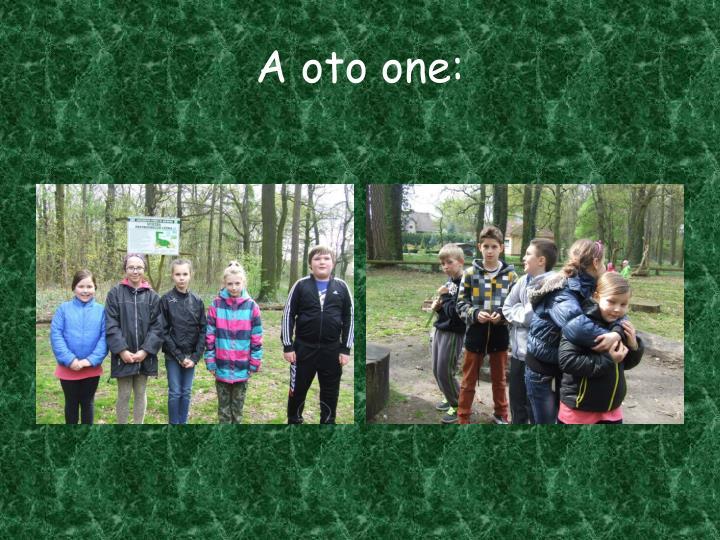 A oto one: