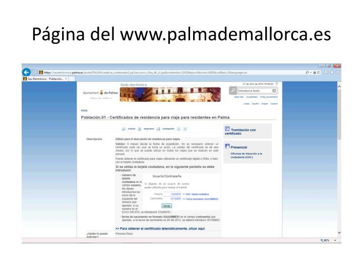 Página del www.palmademallorca.es