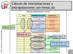 c lculo de interpolaciones y extrapolaciones con lineal xls