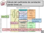 c lculo del coeficiente de correlaci n usando lineal xls