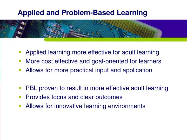 Applied and Problem-Based Learning