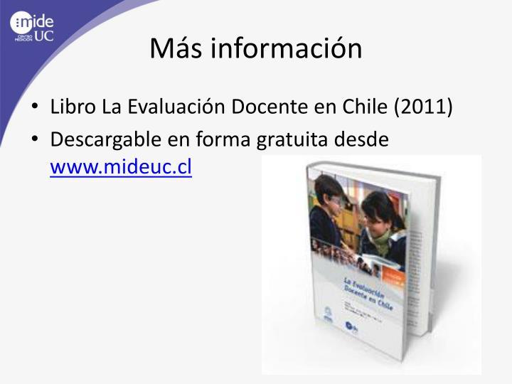 Más información