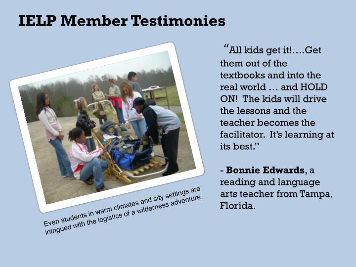 IELP Member Testimonies