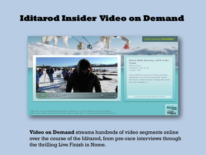 Iditarod Insider  Video on Demand