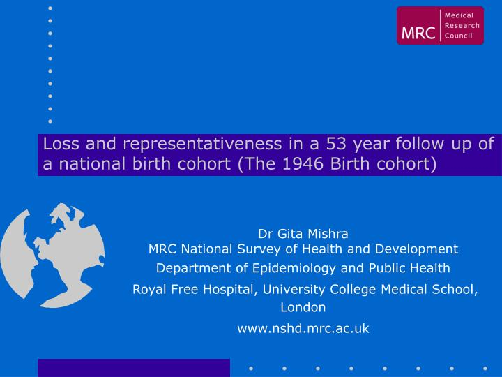 Loss and representativeness in a 53 year follow up of a national birth cohort (The 1946 Birth cohort)