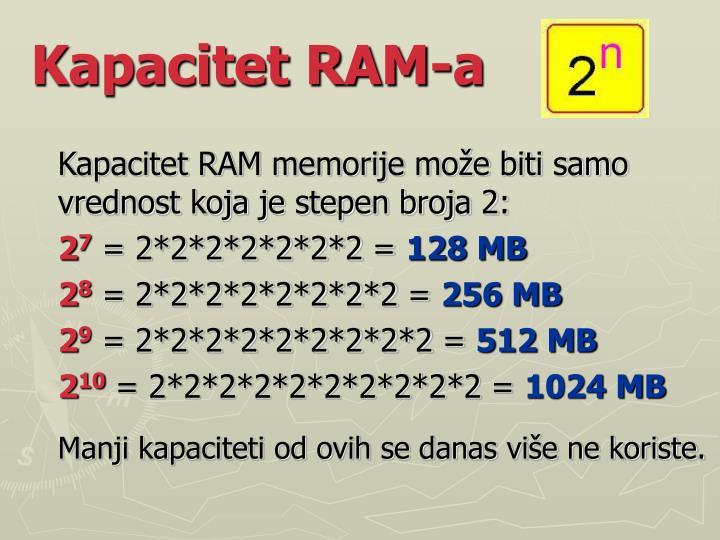 Kapacitet RAM-a