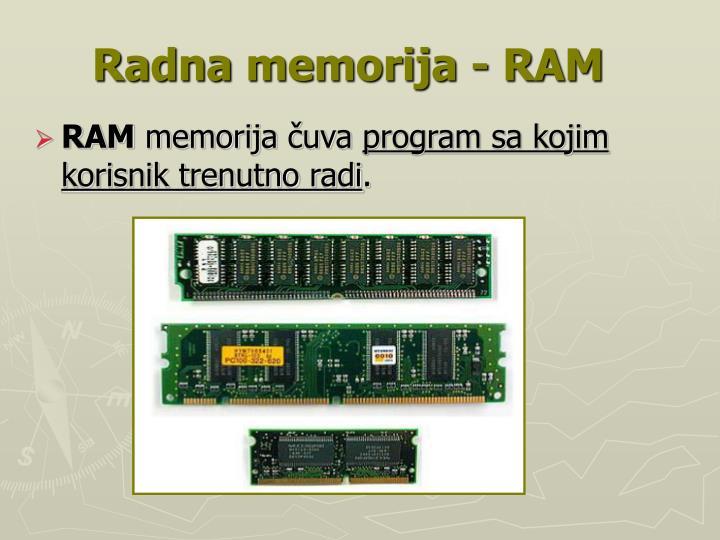 Radna memorija - RAM