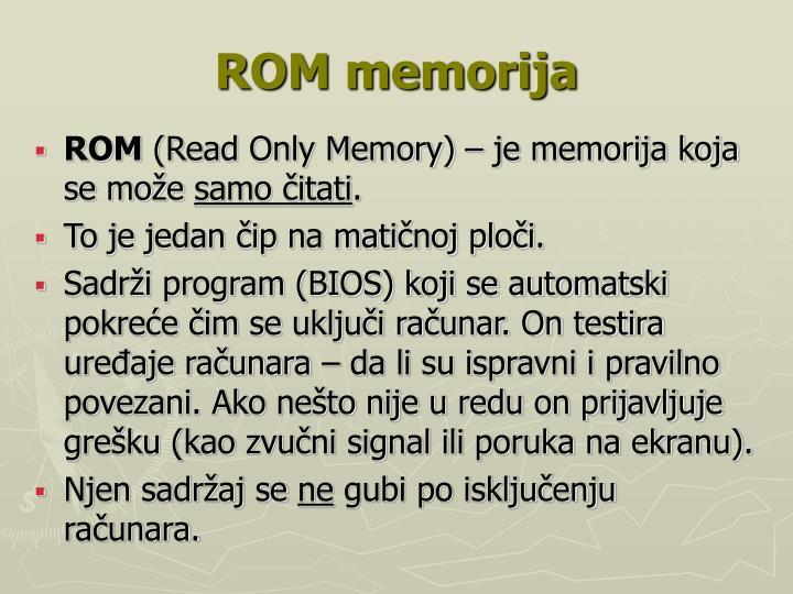 ROM memorija