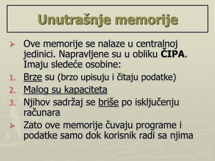 Unutrašnje memorije